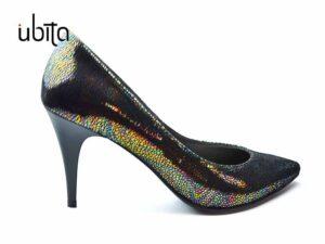 Pantofi dama negri in degrade Stiletto din piele naturala la comanda F0007-Hailey