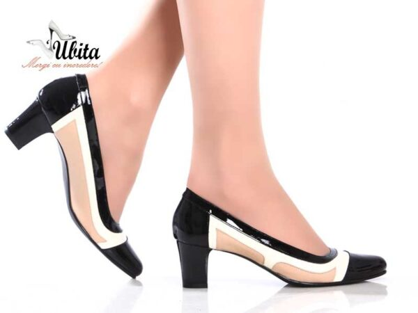 Pantofi office dama din piele naturala la comanda V0612-Alia