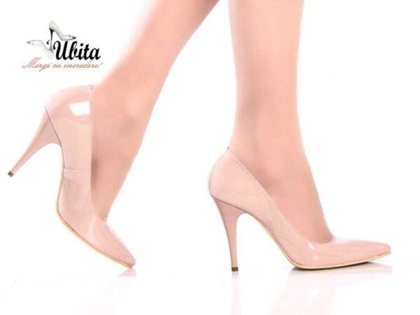 Pantofi nude Stiletto dama piele naturala la comanda V0621-Halle