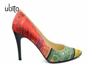 Pantofi dama casual cu imprimeu colorat Stiletto la comanda FFC0016-Hannah