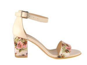 Sandale dama din piele naturala cu textil la comanda F0007-Nevaeh